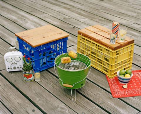 أفكار مميزة لكي تعطي الحديقة crates.jpg