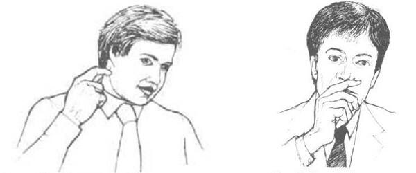 لغة الجسد حك الأذن أو الأنف